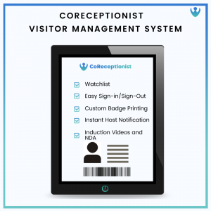 CoReceptionist Features for Visitor's Personal data