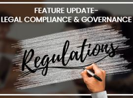 Legal Compliance & Governance- Feature Update